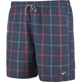 "speedo Check Leisure 16"" Watershorts Men, navy/red"